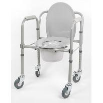 Кресло-туалет складной на колесах 10581CА
