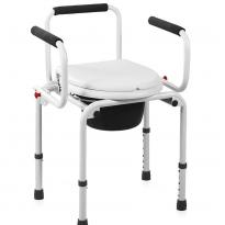 Кресло-туалет с откидными поручнями WC-Delux