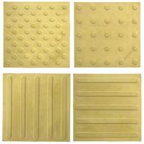 Тактильная бетонная плитка 300х300х55 (желтая)