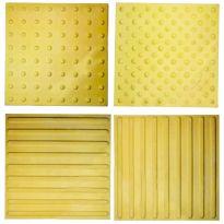 Тактильная бетонная плитка 500х500х55 (желтая)