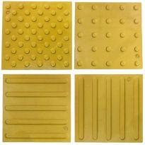 Тактильная полимербетонная плитка 300х300х10 (желтая)