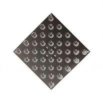 Плитка тактильная (шахматный конус) 300х300 мм из нержавеющей стали