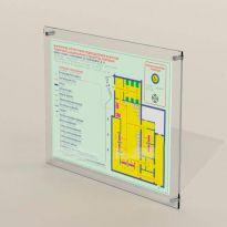 Тактильно-световая мнемосхема с интегрированной системой вызова помощи в алюминиевой рамке (комплект)
