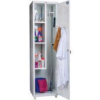 Шкаф металлический 1 - створчатый для одежды и хоз.инвентаря Практик МД 1 ШМ-SS 09114