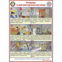 Мини-стенд «Инструкция по действию персонала на пожаре»