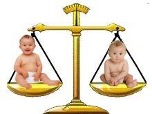 Таблица сравнения детских весов