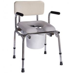 Кресло-туалет с откидными поручнями CSC33