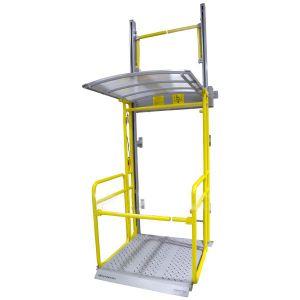 Вертикальный подъёмник ПВт-ШР с козырьком
