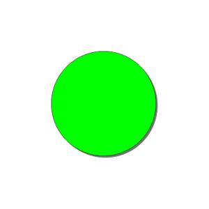 Контурный круг 200 мм (флуоресцентный)