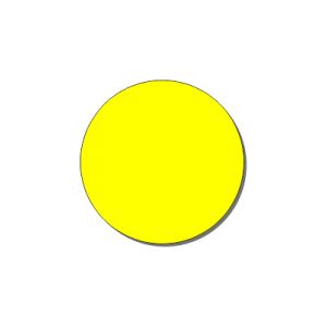 Контурный круг 200 мм (желтый)