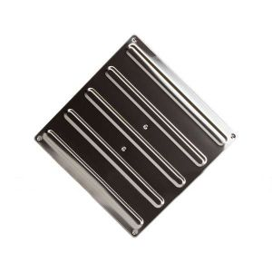 Плитка тактильная (полоса) 300х300 мм из нержавеющей стали