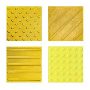 Тактильная бетонная плитка 30х30 (желтая)