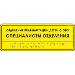 Комплексная тактильная табличка 100х300 Пластик