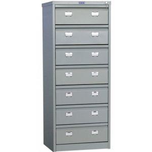 Шкаф картотечный металлический (7 ящиков) Практик МД AFC 07 10264