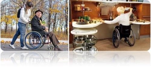 Размеры инвалидной коляски
