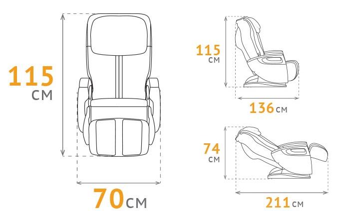 габаритные размеры кресла