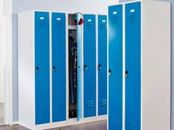 Медицинский шкаф для одежды металлический