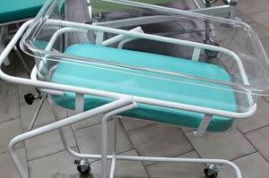 Медицинская кровать для новорожденных с порошковым покрытием