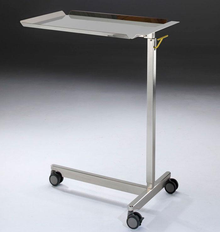Прикроватный столик медицинский из нержавеющей стали